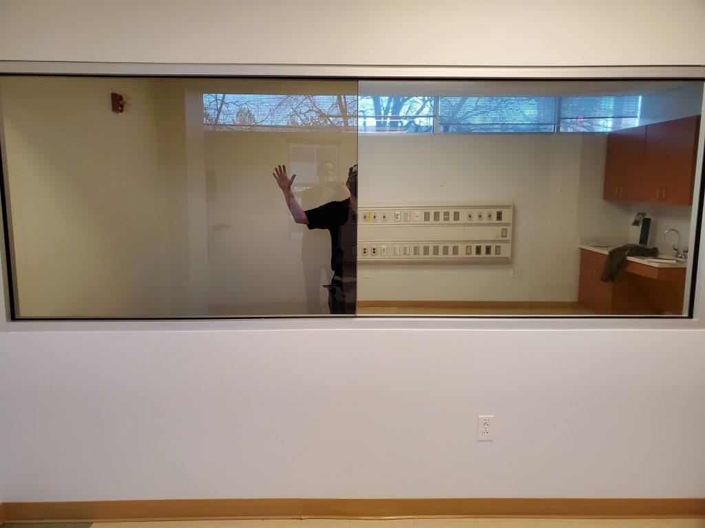 mirror window film, one-way glass film, installation