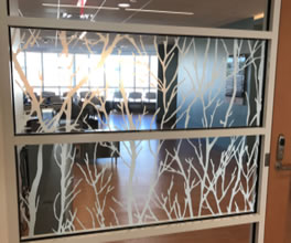 Decorative glass films for office