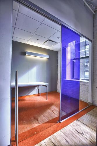 Clear Hue® Grape accent on Huddle room