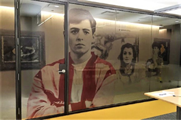 Clear hue Custom Print Decorative Window Film