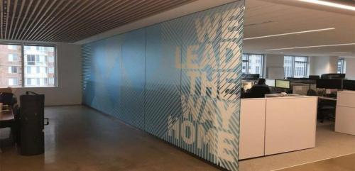 Decorative office glass film installers Virginia